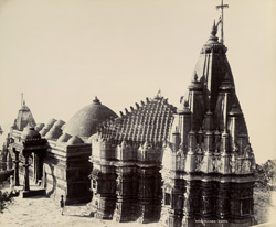 Girnar Temples [Junagadh. View of temples in Ra Khengar's Palace enclosure]